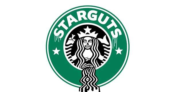 Logo Starbucks détourné