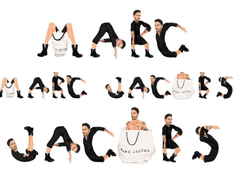 Marc Jacobs logo réincarné