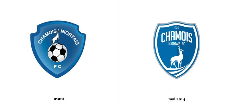 chamois niortais fc Ancien et nouveau logo