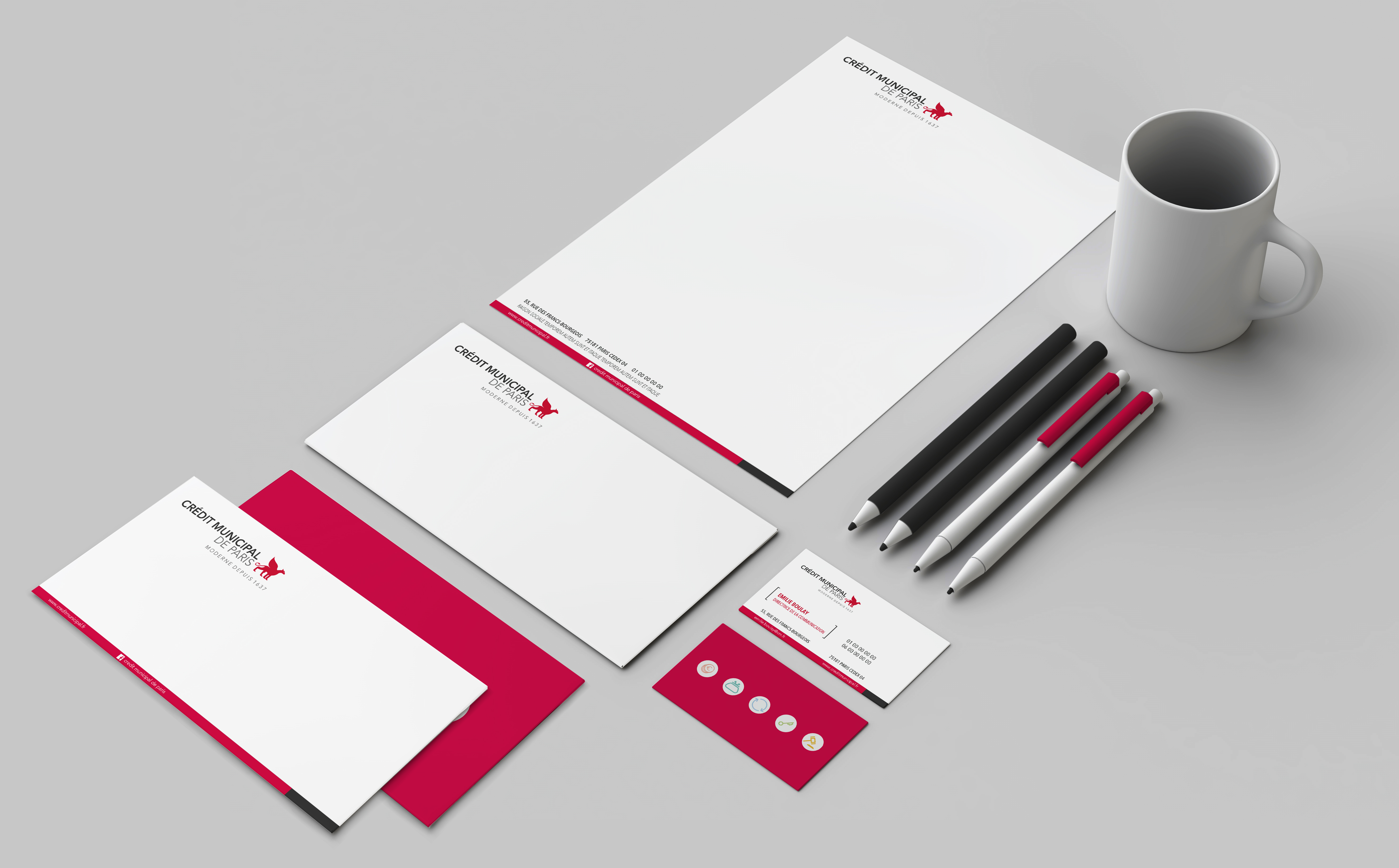 White stationery mock-up, template for branding identity on gray background. For graphic designers presentations and portfolios. 3D rendering.; Shutterstock ID 457764757